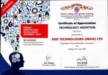 Certificate of Appreciation Technology Adoption