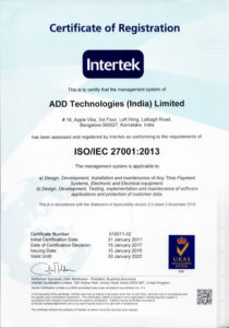 Certificate of Registration Intertek